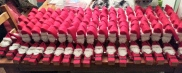 An army of Santas with eyes drying.