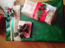 one of my favorite part of Christmas is wrapping the gifts.