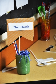 Table Sign w/ photobooth installation