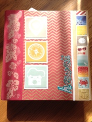 Cover: paper, stickers, 3D paint